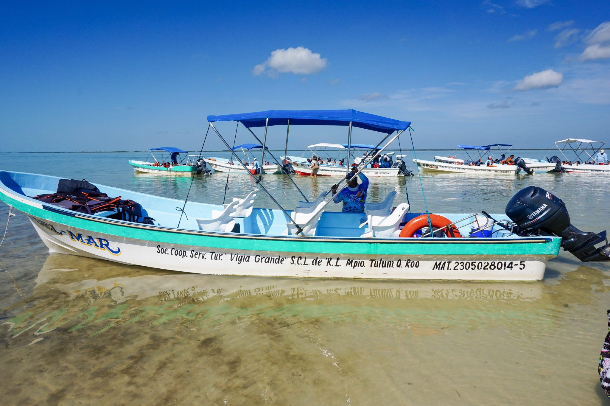 Sian Ka'an boat