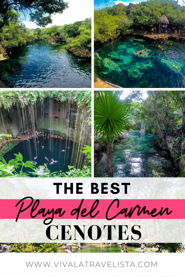 Planning a trip to Playa del Carmen, Mexico? Visiting a cenote, or freshwater swimming hole, is one of the most unique things to do in Playa del Carmen and something you don't want to miss! Check out this detailed guide to visiting the best Playa del Carmen cenotes, including how to get there, what to expect, and what to bring. #mexico #visitmexico #playadelcarmen #tulum #cenote