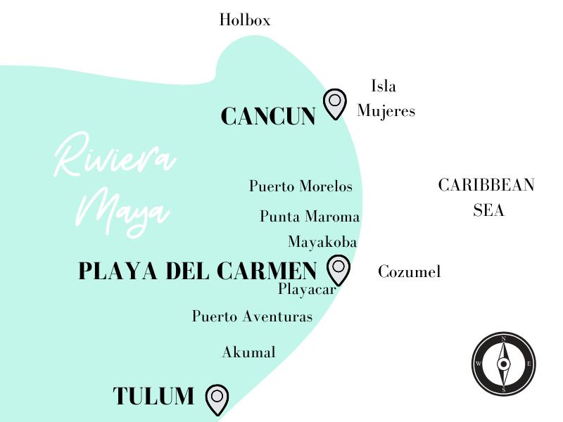 Riviera Maya Resorts Map